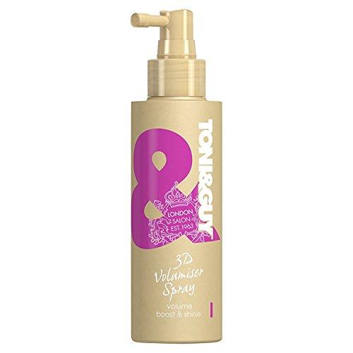 Toni&Guy 3D Volumiser Spray I Peppt dünnes Haar auf I Volumen-Spray zum Stylen feiner Haare I Texture-Spray für Volumen-Boost I Volumen-Haarspray für Frauen I Volumen-Ansatzspray I...