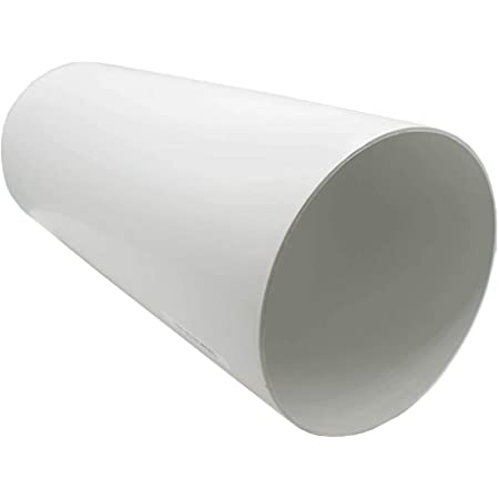 """6/"""" 150mm dia x 1mtr CIRCULAR PLASTIC DUCTING TUBE PIPE for Extractor Fans"""