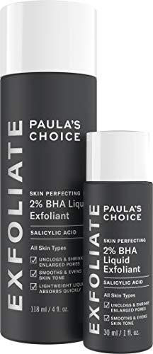 Paula's Choice Skin Perfecting 2% BHA Liquid Salicylic Acid Exfoliant Duo, Gentle Exfoliator for Blackheads, Large Pores, Wrinkles & Fine Lines, Includes 1 Full Size Bottle & 1 Travel Size Bottle