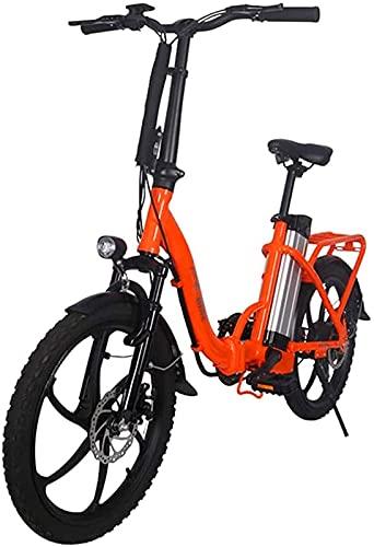 CASTOR Bici elettriche Bici elettrica Pieghevole per Adulti, Freni a Doppio Disco da 20 Pollici City Commute Bike Bike 36V Batt