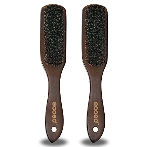 Boar Bristle Hair Brush, Beard Barber Brush, Natural Boar Bristle Brush with Wood Handle, Soft Hair Brushes for Women Men and Kids, Great for Thin and Fine Hair, Adds Shine and Improves Hair Texture