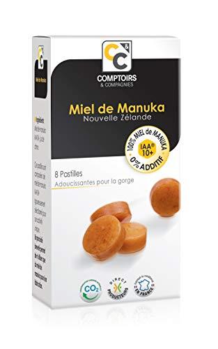 Comptoirs et Compagnies | Pastilles 100% pur miel de Manuka IAA10+ | Idéales pour la Gorge