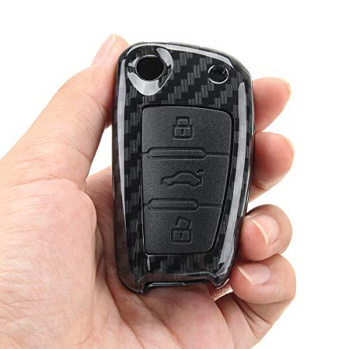 MOMOALA in Fibra di Carbonio Remoto Chiave di Copertura FOB per Audi A4 A3 A6 A7 A8 Q3 Q5 S4 R8 TT