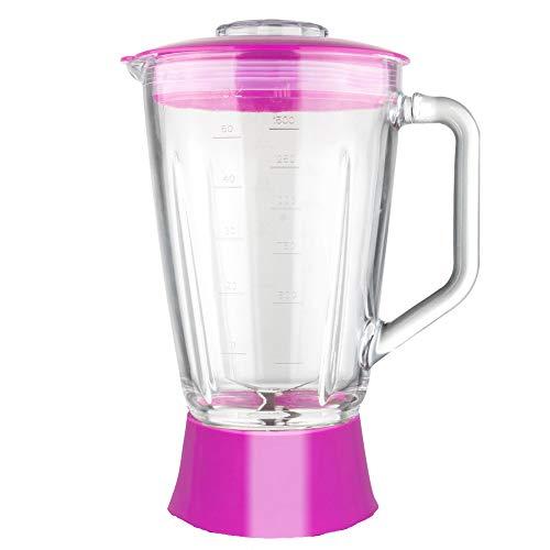 Ersatzglasbehälter Standmixer BG03 TurboTronic 1,5L Glasbehälter inkl. Deckel und Messereinsatz Mixeraufsatz Krug pink