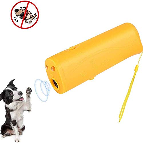 Zach-8 Hundetrainingsgerät, Hund Repeller Hand Dog Repellent Und Trainer, 3 in 1 Anti Barking Gerät Mit LED-Taschenlampe, Hundeabschreckungs/Training-Tool/Stop Barking