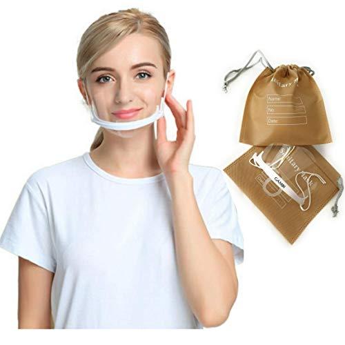 5 Unidades Viseras Protector Facial Plastico Transparente Máscarilla Boca Nariz Visera Plastico Antiniebla Mascara Escudo Transparente Protector Facial Antisalpicaduras (5)