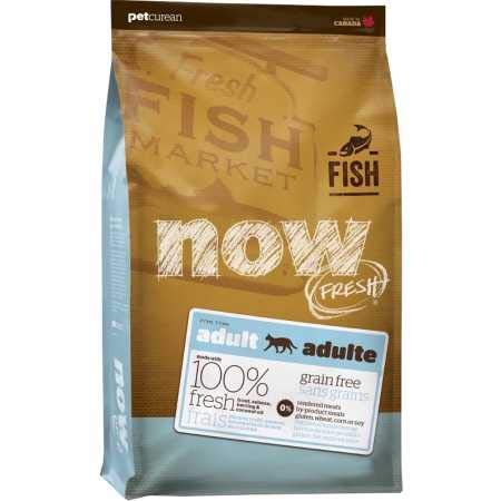 Petcurean Now Fresh Grain Free Fish Adult Recipe Cat Food - 8lb