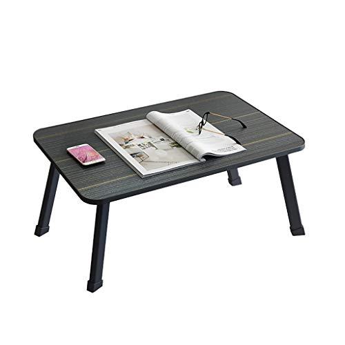 Saladplates-LXM - Scrivania per computer portatile, scrivania sul letto, scrivania per studio nel dormitorio studentesco in camera da letto, semplice pieghevole piccola scrivania pigro (colore A)