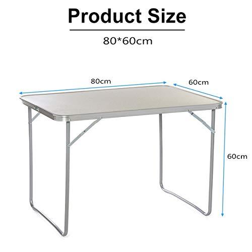 Table HDS 60x40cm / 70x50cm / 80x60cm portátil Escritorio de la Comida campestre de aleación de Aluminio Plegable Plegable Mesa de Camping al Aire Libre Muebles computadora de la Cama