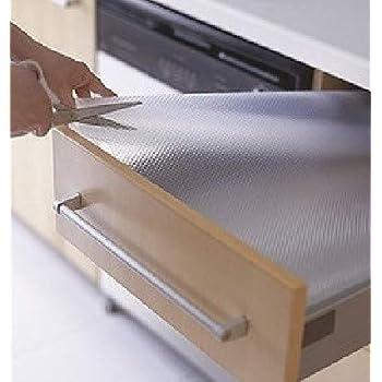 TradeVast Multipurpose Durable and Strong, Grip Liners EVA Mat Drawer Shelf Liner for Kitchen Cabinets, Storage, and Desks Full Length 5 Meter Anti Slip Transparent Size 45 X 500 cm
