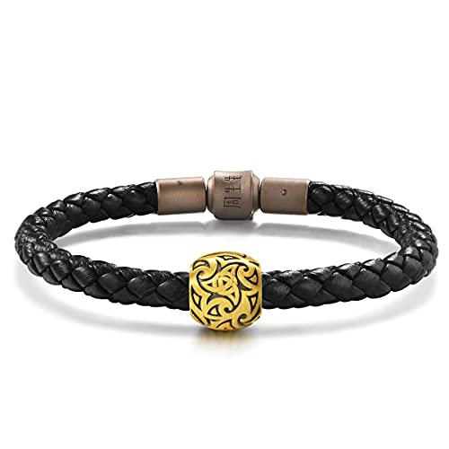 Chow Sang Sang 999 24K Solid Gold Celtic Knots Noir Volition Charm Bracelet for Men & Women 86643C