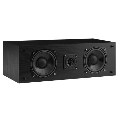 Fluance SXC High Definition Two-Way Center Channel Speaker for Home Theater Surround Sound Systems-Black