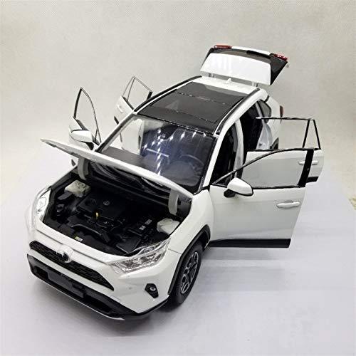 OutdoorKing Modelo Coche Aleación 1:18 Modelo Diecast De Escala para R-AV4 2020 Blanco SUV Alloy Casting Toy Car Diecast Vehicle Vehicle Collection Regalos Coche Juguete para Niños (Color : Blanco)
