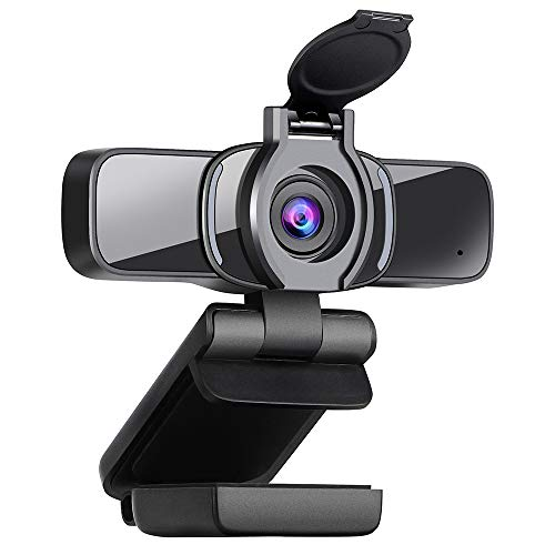 Dericam Webcam, HD 1080P Webcam with Microphone, Computer Web Camera for PC,MAC,Laptop, Plug and Play USB Webcam with Privacy Cover for Youtube, Skype, Video Calling, Conferencing, Gaming