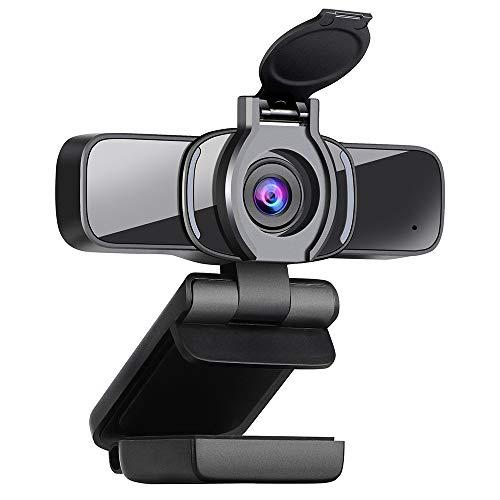 Dericam Webcam,1080P HD Webcam, USB PC Web cam, Videocamera per giochi per streaming live, giochi, chiamate e conferenze con microfono incorporato e copertura telecamera.