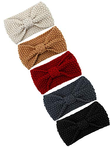 Cooraby Knitted Hairband Crochet Twist Ear Warmer Winter Braided Head Wraps for Women Girls (Color C - http://coolthings.us