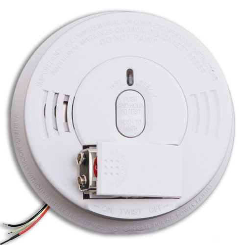 Kidde i12060 Hardwire with Front Load Battery Backup Smoke Alarm, 1 Pack, White