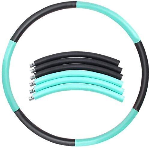 TLMYDD Ponderado Hula Hoop Six-Segment Fitness Pro Hula Hoop Adecuado para Principiantes, Negro Hula Hoop