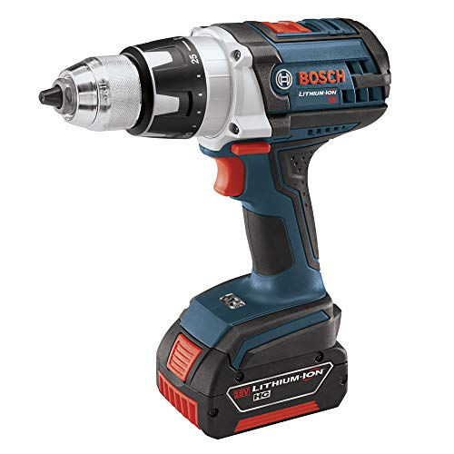 Bosch DDH181-01-RT 18V Lithium-Ion Brute Tough 1/2 in. Cordless Drill Driver Kit (Renewed)