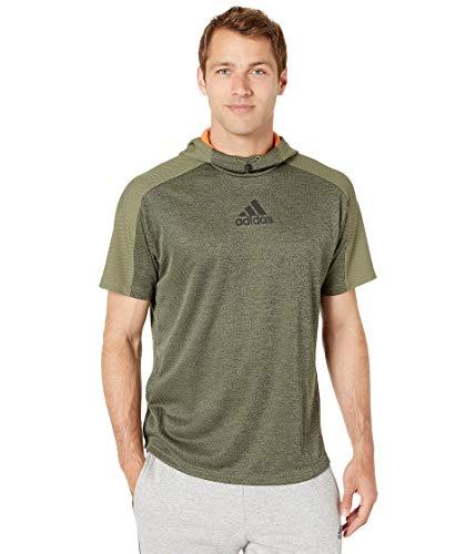 adidas Team Issue Short Sleeve Hoodie Flint Raw Khaki Melange/Raw Khaki SM