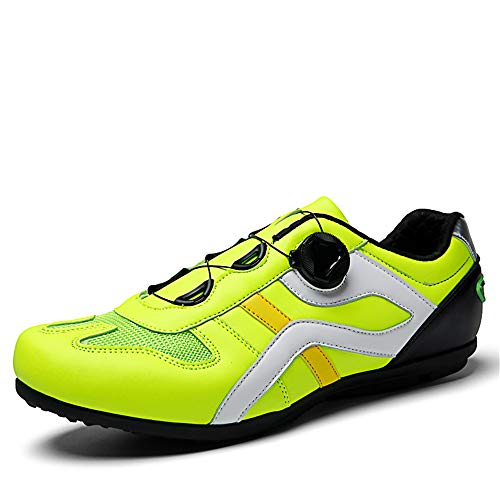 BETOOSEN Cycling Shoes Mens Lock-Free Road Biking Shoes MTB Spin Cycling Shoes Sneakers (Green, 11 M US Men)