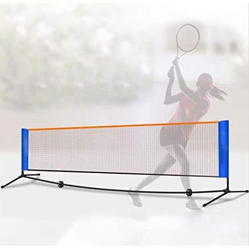 WM Juego de Red Portátil de Voleibol, Fácil Configuración Sin Herramientas para el Patio Trasero del Jardín Interior Al Aire Libre Red Combinada Multideportiva,310cm