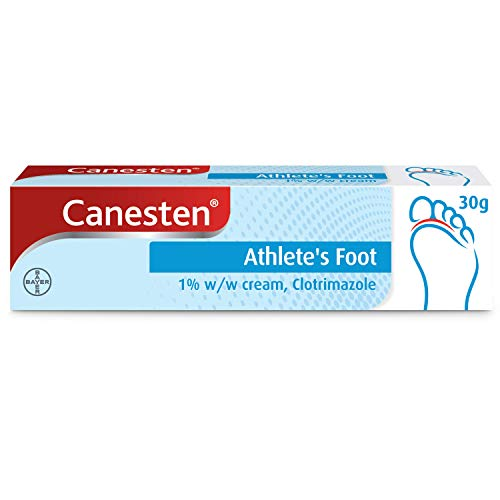 Canesten Athletes Foot Cream, Dual Action, Clotrimazole, Antifungal Cream,...