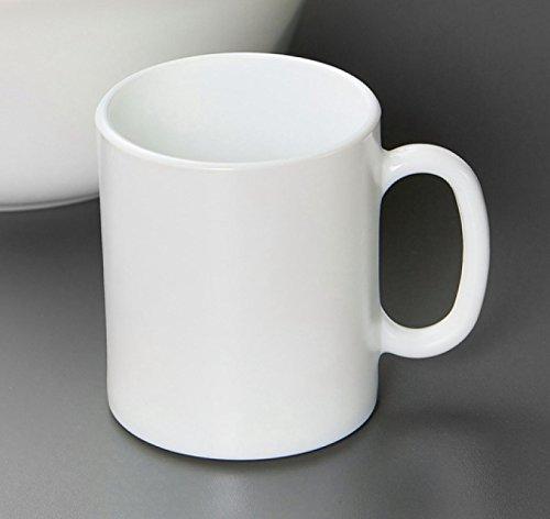 Tasse Becher Kaffeebecher Opalglas weiß Every day 6 Universalbecher