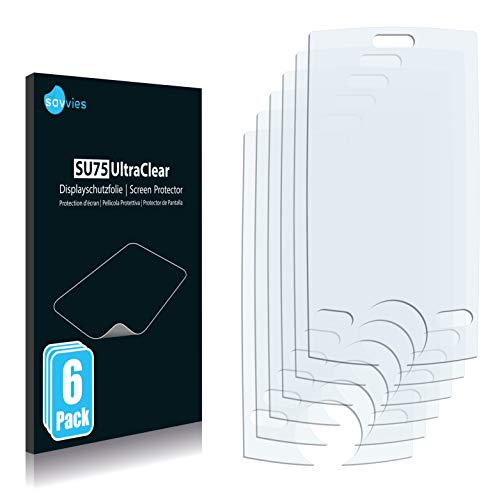 Savvies 6X Schutzfolie kompatibel mit CECT Anycool T318 Bildschirmschutz-Folie Ultra-transparent