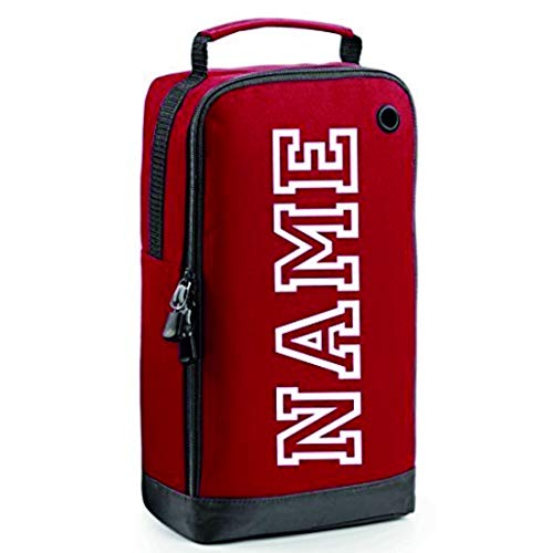 Personalised Football Boot Bag/Shoe Bag by Prospo Football/Rugby/Hockey/Gym (Red)