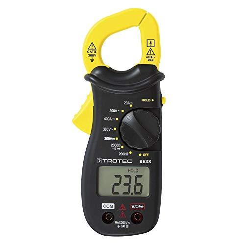 TROTEC Stromzange BE38 Zangenampermeter Multimeter Strommessung Spannung
