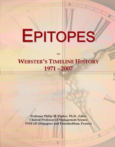 Epitopes: Webster's Timeline History, 1971 - 2007