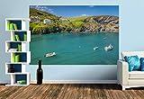 Premium Foto-Tapete Hafen von Port Isaac in Cornwall, England (versch. Größen) (Size M | 279 x 186 cm) Design-Tapete, Wand-Tapete, Wand-Dekoration, Photo-Tapete, Markenqualität von ERFURT