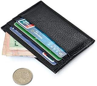 محفظة من الجلد خاصه للبطاقات و الكروت الأئتمان لون أسود منقوش رقم الصنف 405 - 1