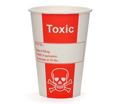 100 vasos de cartón, vasos venenosos, vasos de papel, vasos para laboratorios o fiestas con 200 ml de volumen y aspecto venenoso.