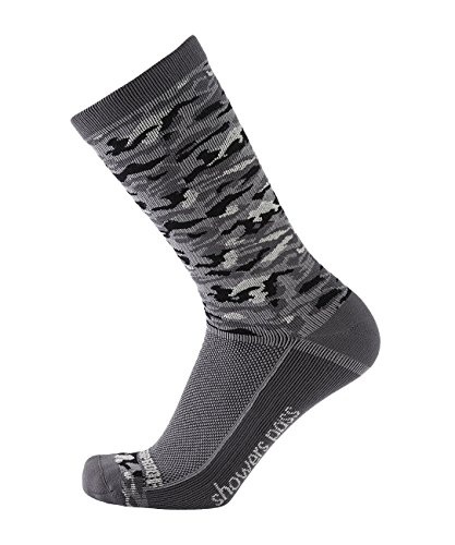 Showers Pass 100% Waterproof Breathable LightweightMultisport Unisex Socks (Grey Camo - XX-Large)