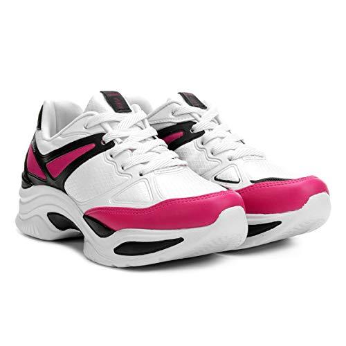 Tênis Azaleia Chunky Sneaker Feminino - Branco e Dourado - 33
