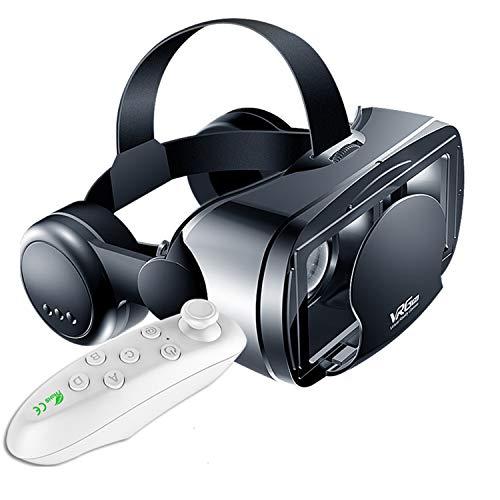 YFEI 3D VR Gafas De Realidad Virtual, VR Glasses Visión Panorámico 360 Grado Película 3D Juego Immersivo para Teléfonos Móviles De 5 A 7 Pulgadas (2021 Gafas VR con Auriculares)