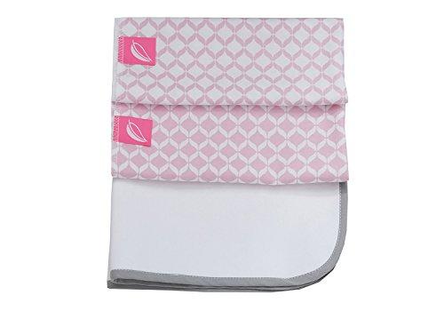 Motherhood 3 en 1 imperméable respirant et 2 coussinets en mousse de matelas à langer, 50 x 60 cm Rose Classics 2017