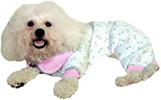 Paw Print PJ's – Pastel with Pink Trim / Small