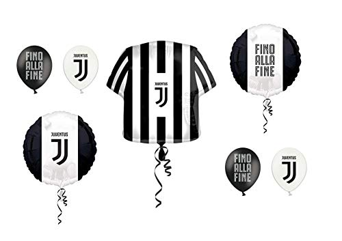 Casa Party Store Web by schattig huis Juventus bal Foil SUPERSHAPE Kit Bouquet CENTROTAVOLA AD Aria O Elio - CDC - (2 luchtballonnen Foil, 1 super HAPE, 12 ballonnen)