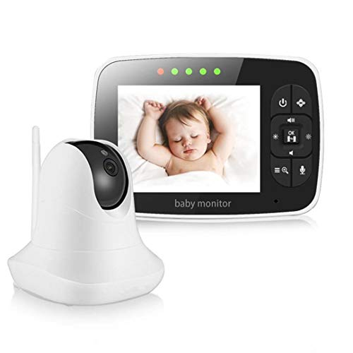Baby Monitor, Video Baby Monitor with 3.5'' LCD Screen, Wireless Night Vision Dual View Video,  Newborn Baby Monitor with Pan/Tilt/Zoom Night Vision Digital Color Camera, Two-Way Audio Monitors