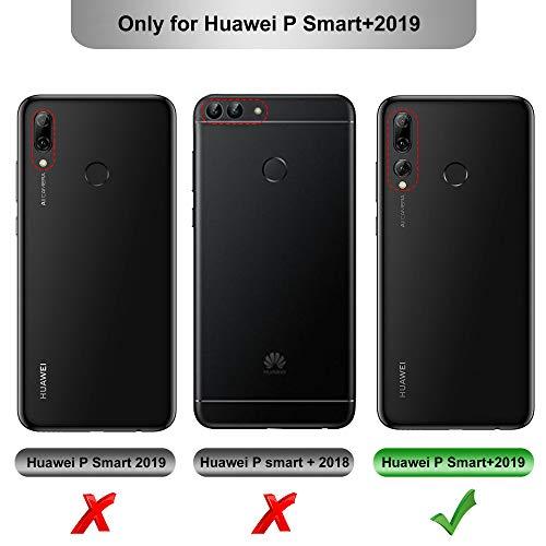 GEEMAI für Huawei P Smart Plus 2019 Hülle, für Honor 20 Lite Hülle, handyhüllen Flip Hülle Wallet Stylish mit Standfunktion und Magnetisch PU Schutzhülle passt für Huawei P Smart+ 2019 Phone, Rosegold - 2