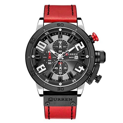 xisnhis schöne Uhren curren8312 männer Quarz uhrwerke - Leder auf automatische Datum kleine DREI - Nadel