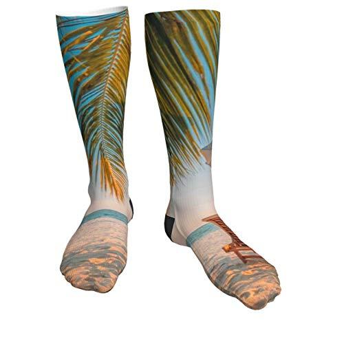 Compression Socks Women & Men Beach Lounger Heel Thick Socks - Best for Running,Athletic Sports,Flight Travel, Pregnancy, Soccer
