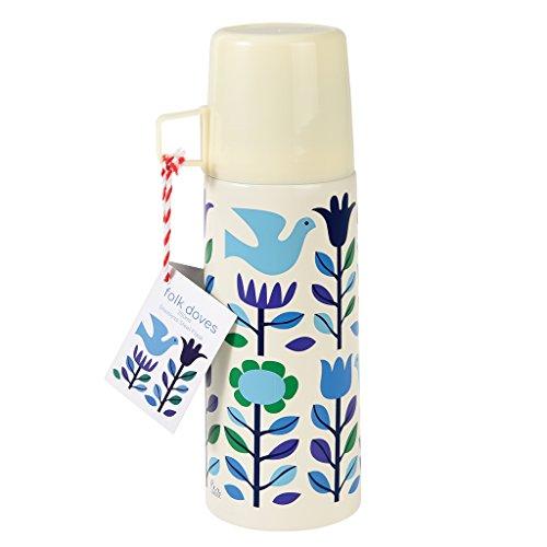 Rex London Isolierflasche/Thermosflasche aus Edelstahl mit Becher