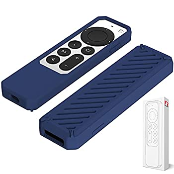 2021 RubRab Protective Case for Siri Remote Control Anti-Slip Durable Silicone Shockproof Rubber Cover for Apple 4K HD TV Siri Remote  2nd Generation Applicable  Classic Design  Blue