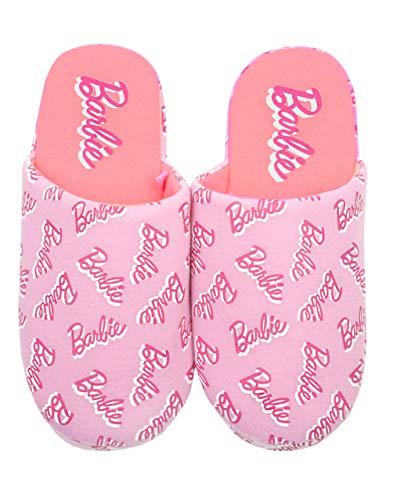 vanilla underground Rosa Mule Barbie all Over Stampa Logo della Ragazza Slip-On Slipper