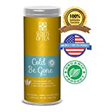 Secrets of Tea - Cold Be Gone Herbal Tea - USDA Organic - Relieves Coughing, Sneezing, Fever, Sour...