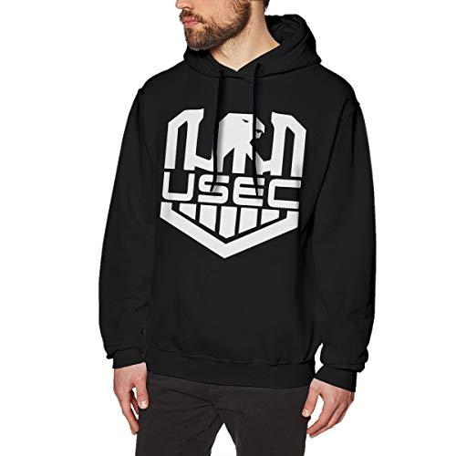 DGGE U.S. Veterans Owned Escape from Tarkov USEC Logo Men's Hoodies Sweatshirts Clothing and Sports Black